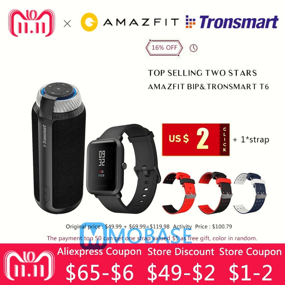 Huami Amazfit Bip Rythme Lite Montre Smart Watch + Tronsmart T6 en vente 16 pour cent off