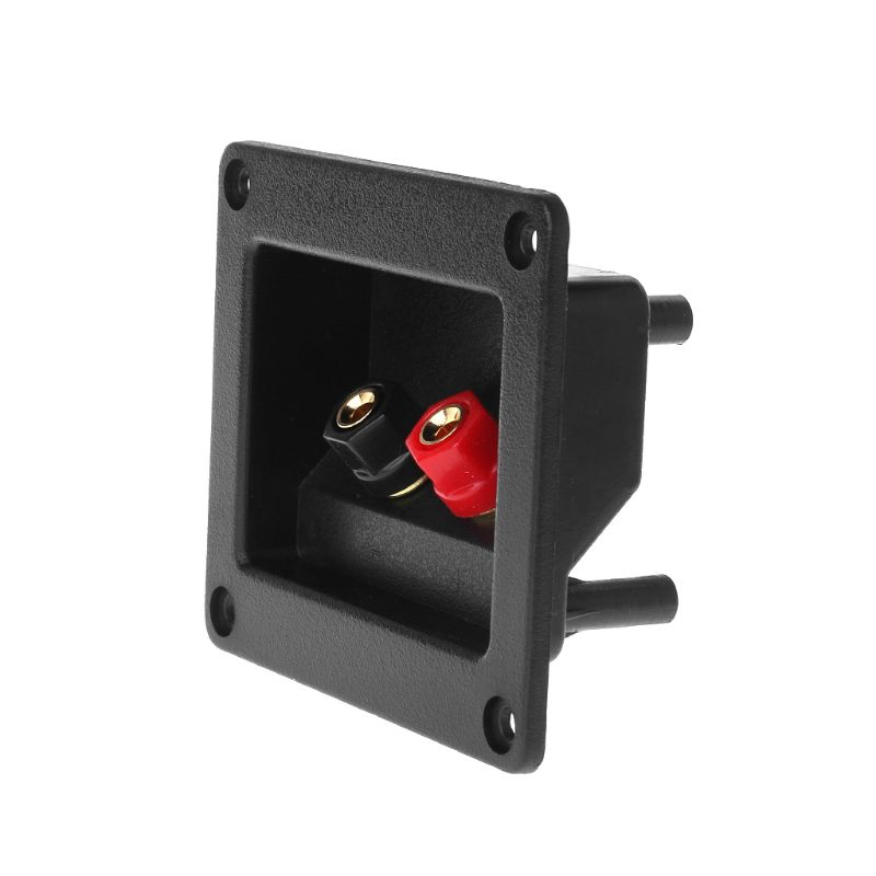 Terminal Cup Connector Parts Express Spring Double Binding Posts Gold Twist Banana Jacks Recessed Speaker Box Black