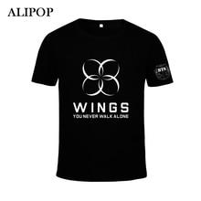 Moda Kpop BTS Bangtan Ragazzi ALI SUGA Jung Kook Jimin V Jin Album Cotone  Tshirt K 74f6dc53a4eb