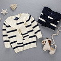 2016 new autumn winter England children stripe sweater casual navy style boys knitted sweaters baby girl clothes casaco feminino