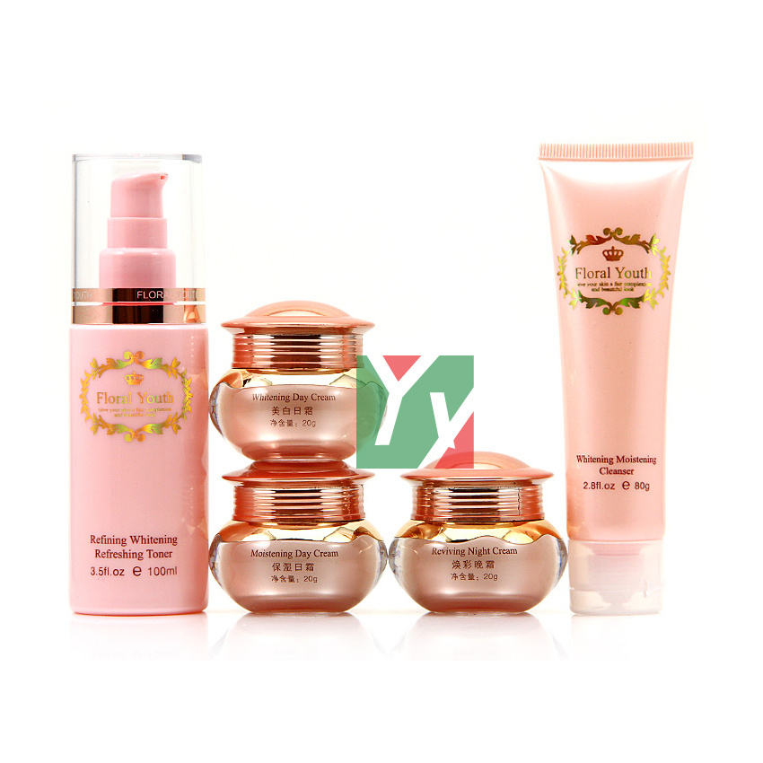 цена на New Product Floral Youth Skin Care Cream Set whitening day and night cream 5 in1