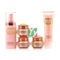 New Product Floral Youth Skin Care Cream Set whitening day and night cream 5 in1