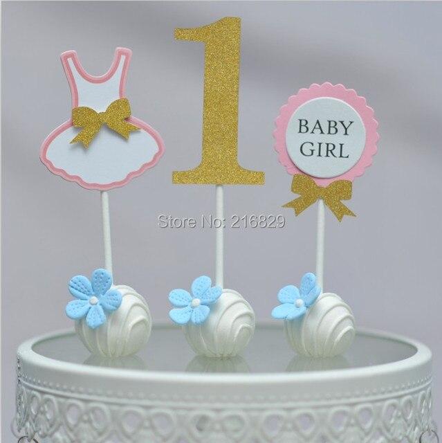 Freies Schiff 1 Jahr Altes Baby Mädchen Geburtstag Kuchen Set Of 3