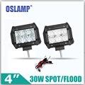 5d oslamp 30 w 4 pulgadas cree fichas de inundaciones/spot led luz de trabajo 12 v 24 v 6000 K Led Auto Car SUV ATV RZR Wagon Camper Luz de Conducción