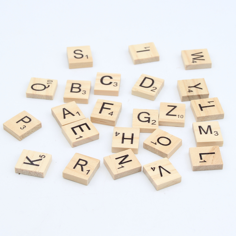Beads Beautiful 100pcs Wood Beads Nature Color Letter Alphabet Wooden Beads For Jewelry Making Diy Puzzle Kids Adult Scrabble