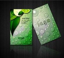 300gsm المغلفة ورقة اثنين من جانب الطباعة تصميم مجاني ، بطاقات الأعمال الرائعة الطباعة عالية الجودة اسم cardNO.1004