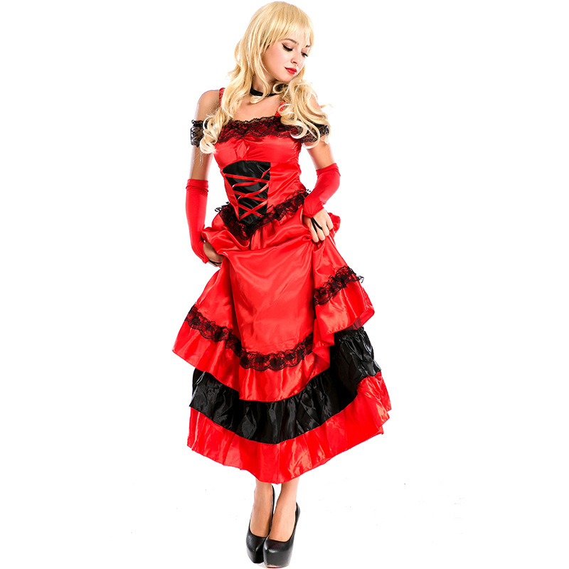 New Red Evening Dress Night Stage Singer Stage performance European and American Song and Dance Uniform High Quality L1891033 image