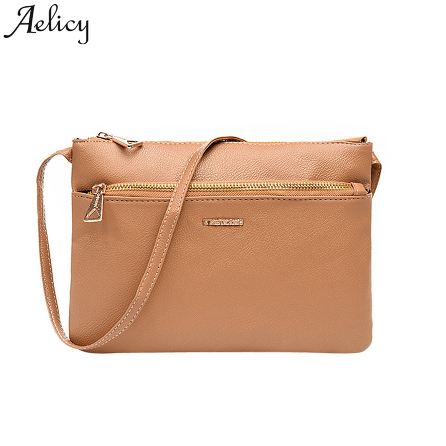 Aelicy Small Shoulder Bag Women Brief PU leather Crossbody Bags Zipper Solid Flap Bag High Quality Messager Bags S30 yuanyu 2018 new snake skin snake leather women bag single shoulder bag small flap women bags