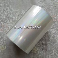 Holographic Foil Plain Transparent Foil Hot Stamping On Paper Or Plastic 8cm X 120m Lot DIY