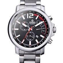 CASIMA мужские часы из нержавеющей стали кварцевые часы спорт на открытом воздухе мода calculagraph секундомер водонепроницаемый 100 м мужчины часы #8305