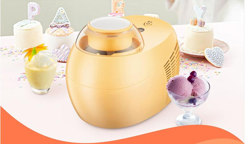 Fully Automatic Home Ice Cream Maker of 0.5L Capacity with 3D Mixer and Intelligent Cooling Core to Prepare Delicious Ice Cream and Dessert