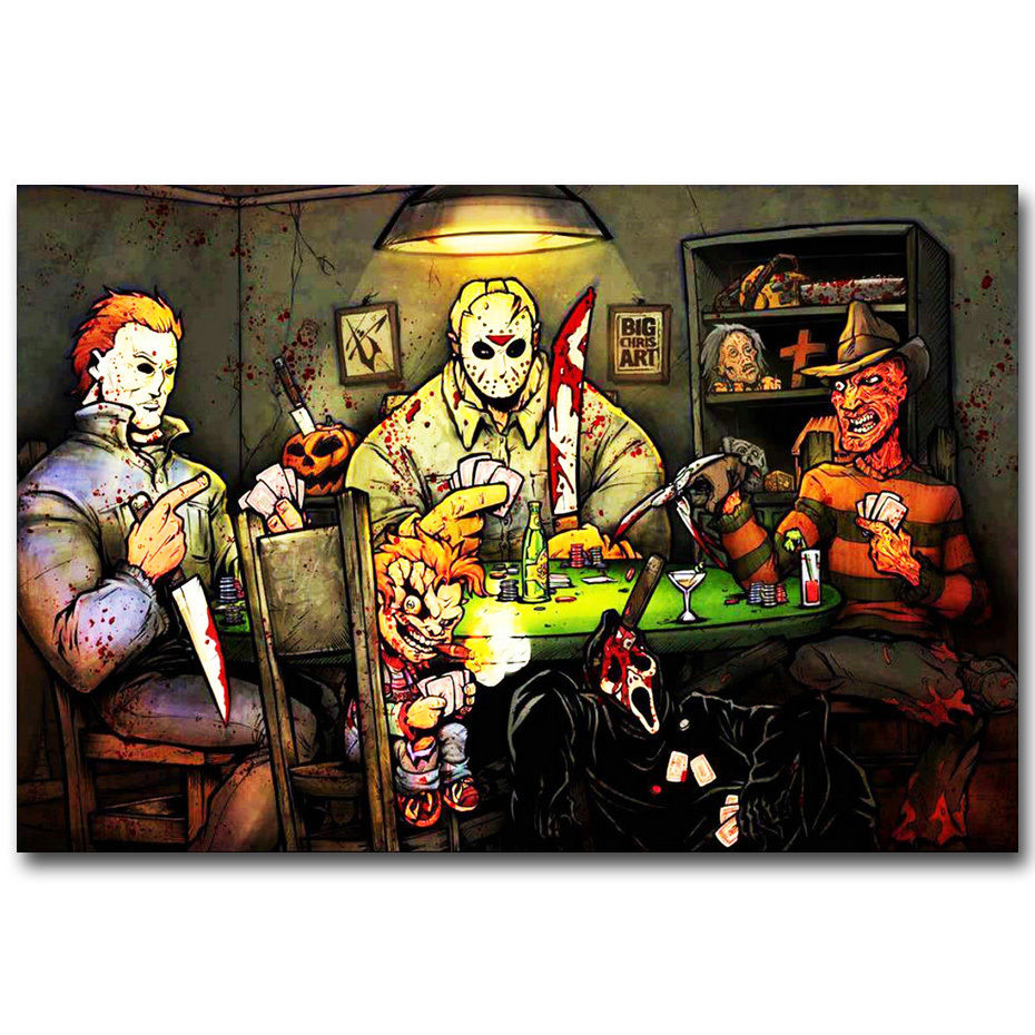 J1071 Michael Myers vs Jason Voorhees SLASHERS Horror Movie Pop ...