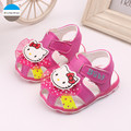 2017 0 to 24 months LED baby lights shoes infant girls sandals summer non-slip soft bottom newborn toddler shoes first walker
