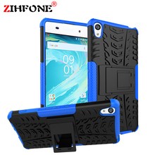 For Sony Xperia XA Case F3111 F3113 F3115 Shockproof Robot Armor Slim Hybrid Rugged Silicon Hard Phone Cover Dual