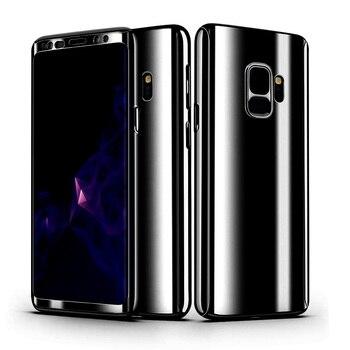 Funda completa de 360 grados funda para Samsung Galaxy S8 S9 Plus galvanoplastia de lujo cubierta dura de la PC para Samsung Note 8 S7 Edge s9