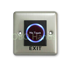 Hot sale Infrared no touch exit push button switch with LED for home security alarm door exit button switch emergent exit button