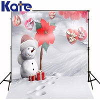 Kate Digital Printing Background Fundo Snowman Snow Footprints 6.5 Feet Length With 5 Feet Width Backgrounds Lk 2283
