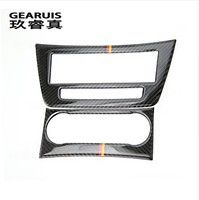 Carbon Fiber Auto Interior Trim Air Conditioning CD Control Panel Car Styling Stickers Cover For Mercedes
