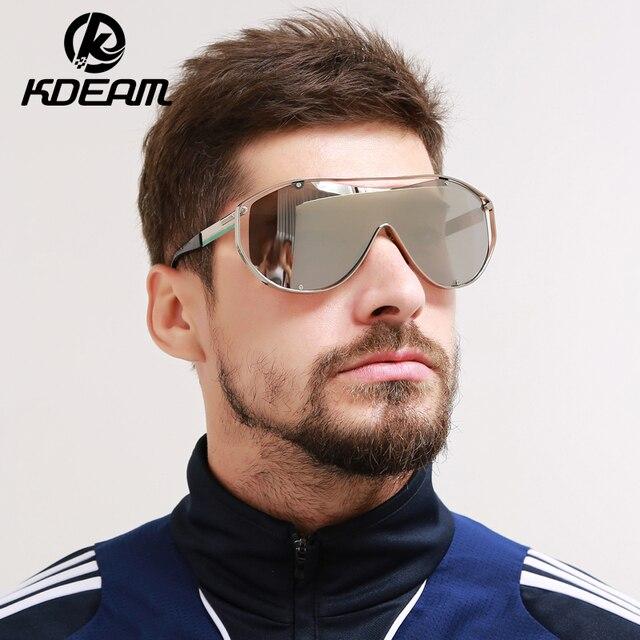 db405347b KDEAM Metal Frame 2017 Sunglasses Women Goggle Oversize oculos de sol  feminino big size Sun glasses
