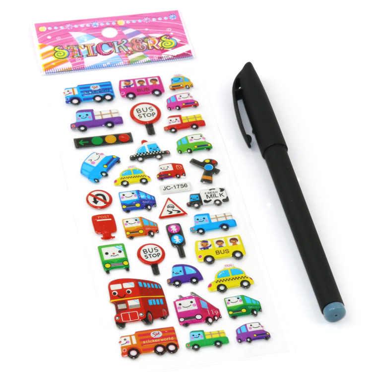 1 Pcs Vender Profusão cor Folhas Etiqueta Bonito Adesivos DIY Crianças Dos Desenhos Animados Adesivos Brinquedos Emoji PVC Recados Presentes Para As Crianças