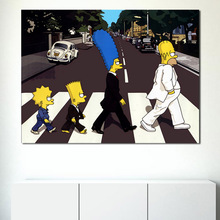 Abbey Road Streets Homer TV Play Wall Art Canvas Posters Prints Painting Oil Pictures For Bedroom Modern Home Decoration
