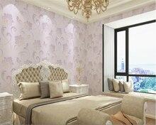 beibehang papel de parede Simple 3D vertical stripes non-woven three-dimensional foam flocking background wallpaper hudas beaut