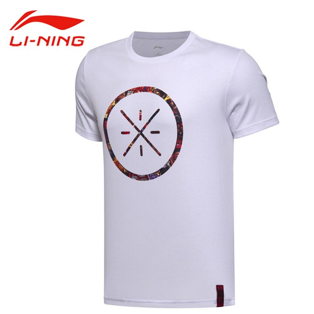Li-ning גברים של ווייד כדורסל גופיות לי נינג לנשימה כותנה ספורט חולצות רירית קצר שרוול ספורט חולצות Tees AHSM319