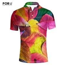 FORUDESIGNS  Shirts for Men Summer Short Sleeve Men's Stylish Maple Leaf Printed Breathable Adult Male Camisa  Masculina цена