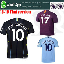 37e7bfb3 sales 2019 Top Best Qualit Manchesteer CITYS Soccer jersey 18 19 Home blue  Away purple 3RD
