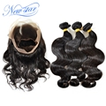 new star brazilian virgin hair extension 360 lace frontal closure with 3bundles human hair weave body wave for black women
