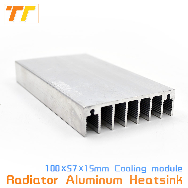 100x57x15mm Radiator Heatsink Aluminum Heat Sink Cooling Fit LED Transistor IC Module Power PBC Heat Dissipation for LED chip цена