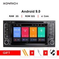 Xonбогатый Автомобильный мультимедийный плеер Android 9,0 2Din DVD Авторадио для VW Volkswagen Touareg Transporter T5 gps навигация Audio2G ram
