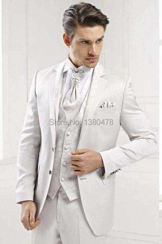 ᐊ2016 New style white Groom Tuxedos groomsman Best Man Suit Mens ...