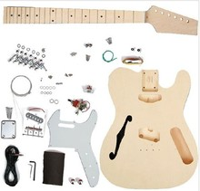F Hole TL DIY Electric Guitar DY-Y4  Mahogany Body Maple Neck Hot Sale High Cost Performance недорго, оригинальная цена