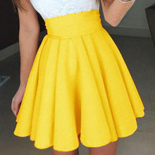 Saia skatista feminina amarela para festas, novidade, venda no atacado, festa, coquetel, verão, 11 #