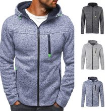 Laamei New Brand Classic Hoodies Sweatershirt Men Autumn Zipper Patchwork Cardigan Coats Causal Streetwear Hip Hop Streetwear(China)