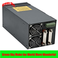 New Arrival Cooling fan 1500W Voltage Transformer LED Display DC single output 12v power supply switching