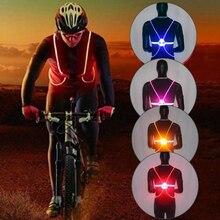 Ночной бег Велоспорт Спорт на открытом воздухе мигающий жилет мотоцикл светодиодный светильник для езды на велосипеде светоотражающий жилет для безопасности