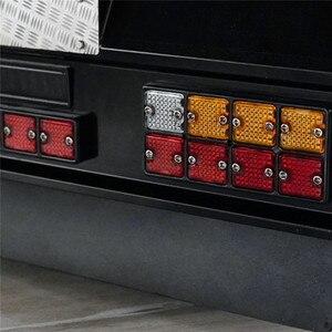 Image 5 - Светодиодный фонарь заднего сигнала, модифицированный для автомобиля, квадратный, с задним бампером для тамии, все 1/14, для Man, Скания R620, R470, RC, автозапчасти