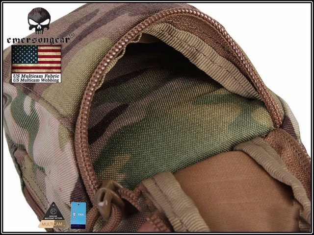 EmersonGear EDC Digital Camera Waist Bag Molle Military Airsoft Combat Gear Bag EM8349 Multicam Black 5