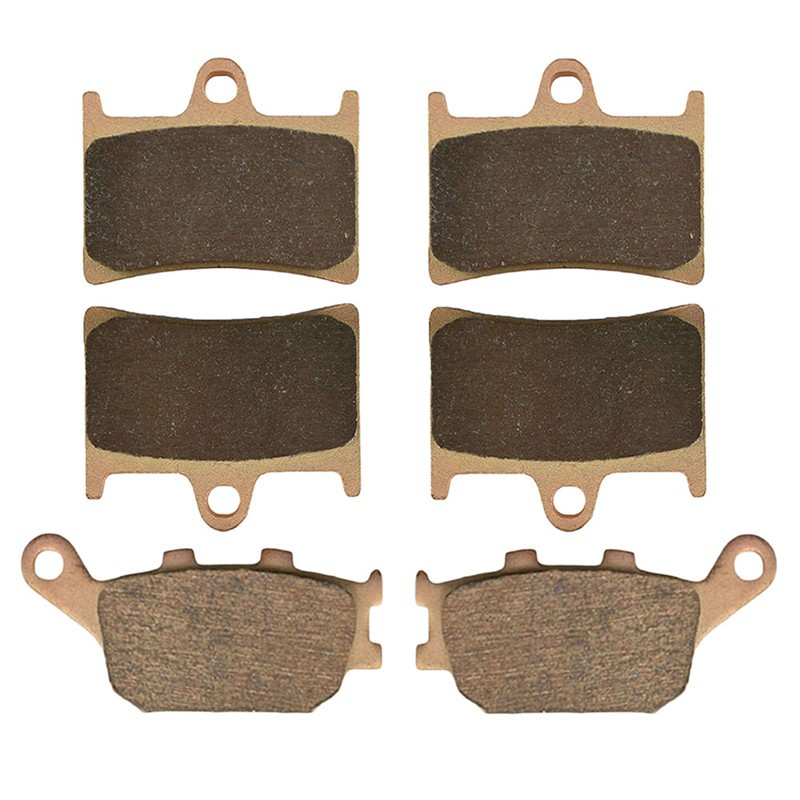 Motorcycle Front and Rear Brake Pads for YAMAHA FZ1 (Naked) (2D1) (1000cc) 2006-2009 Sintered Brake Disc Pad motorcycle front and rear brake pads for yamaha fzr 400 a fzr400a 1990 brake disc pad