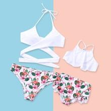 Fashion Bikini Mommy and Me Swimsuits Family Look Mother Daughter Swimwear Mom Girls Matching Clothes Bathing Suits Dress Look floral mother daughter swimwear mommy and me clothes family look bikini swimsuits mom daughter matching bathing suits dresses