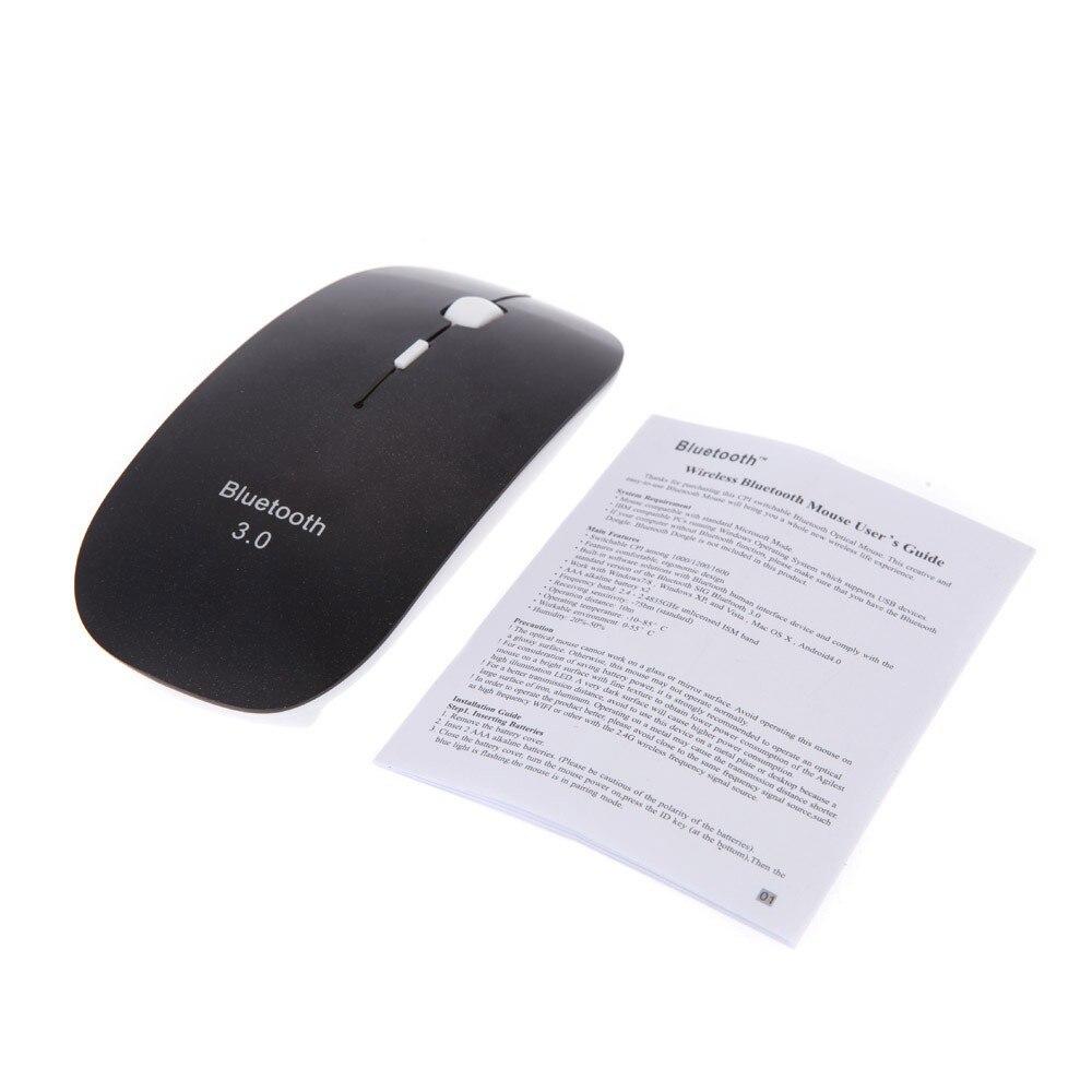 Купить с кэшбэком Mini Optical Wireless Mouse Bluetooth Mouse Ultra Thin Super Slim Mouse Cordless Computer PC Laptop Desktop mac user