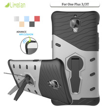 Limelan New for OnePlus 3 Phone Case Anti Knock 360 Degree Shockproof Hard Stand Back Cover For OnePlus 3 3T Shell Capa