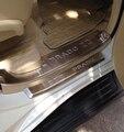 Accesorios de Acero Inoxidable Travesaño de La Puerta PARA Toyota Land Cruiser Prado J150 2014 2015 150 Placa Del Desgaste Del Interior Trim 8 unids