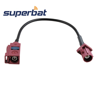 Superbat RF Coax Cable Fakra D Straight Female Jack To Fakra D Straight Male Plug Pigtail