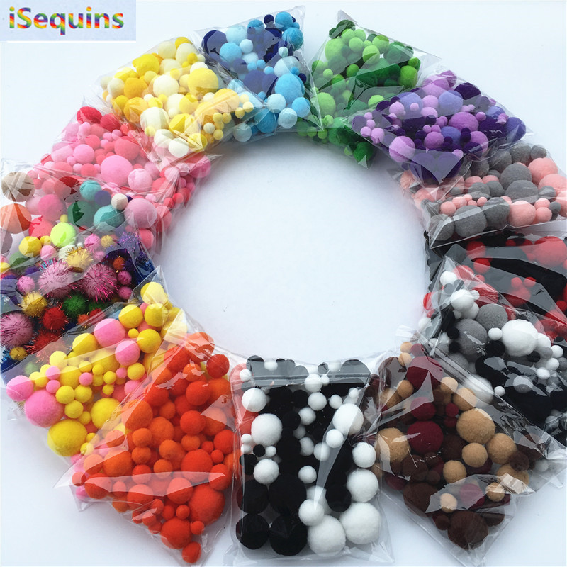 20g Mix Size Mulit Colors Pompom Fur Craft DIY Soft font b Pom b font Poms