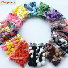 20g Mix Size Mulit Colors Pompom Fur Craft DIY Soft Pom Poms Wedding Decoration/Sewing On Cloth Accessories from 8mm to 30mm