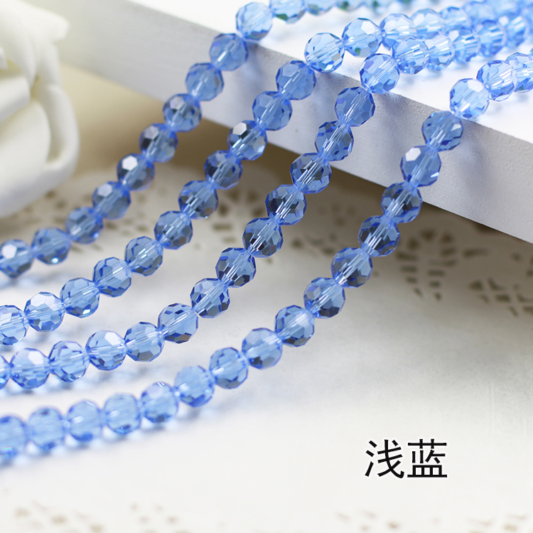 Wholesale~Light Blue Color 5000# Crystal Glass Beads Loose Round Stones Spacer for Jewelry Garment.4mm 6mm 8mm 10mm wholesale light siam color 5000 crystal glass beads loose round stones spacer for jewelry garment 4mm 6mm 8mm 10mm