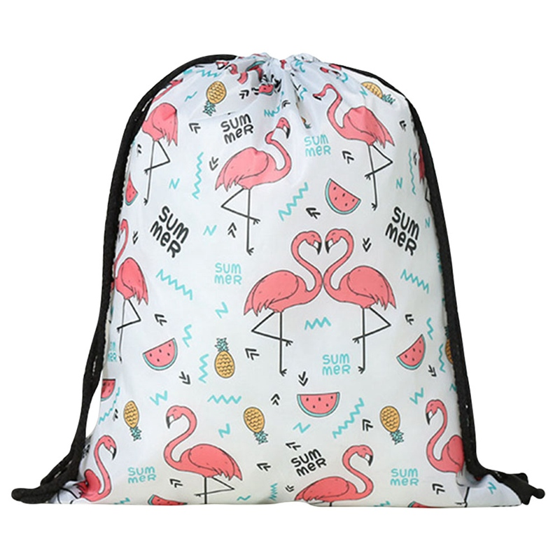 2018 New Cute Flamingo Unicorn Pattern Sport Bags Swimming Bags Gym Pump Bag Sports Drawstring Boy Girl Outdoor Hot Sale